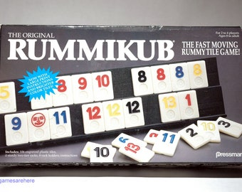 Rummikub Tile Game from Pressman 1990 COMPLETE (read description)