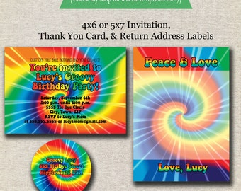 quick view tie dye invitation