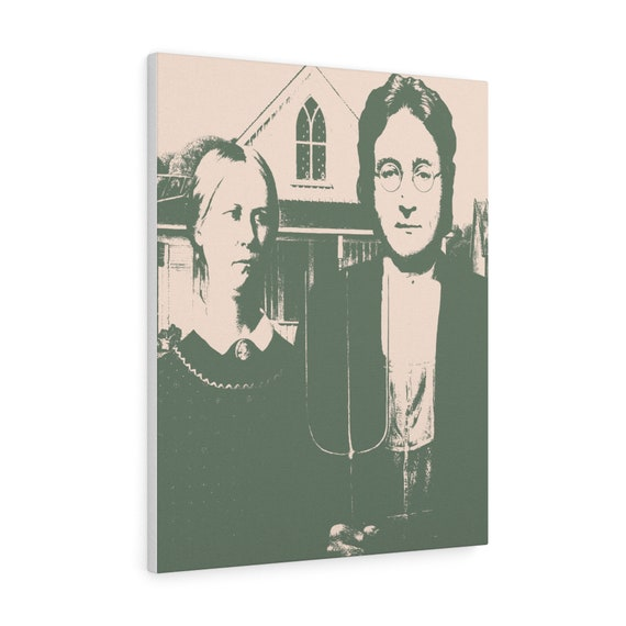 Wood Vs Lennon print on canvas