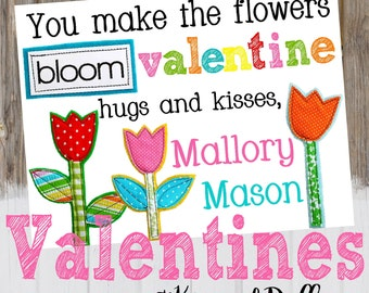 PRINTABLE Valentines at Kip and Duffy, Personalized Valentines, Kids personalized Valentine Cards