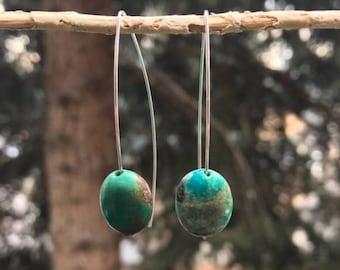Turquoise Oval Earrings