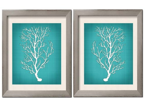 Awesome Beach House Decor Teal Wall Art Teal Art Teal White Teal