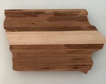 Iowa Cutting Board / Cutting Board Iowa / Wood Cutting Board / Iowa Wood Cutting Board