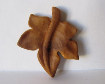 Grape leaf pendant, Leaf pendant, Necklace wood