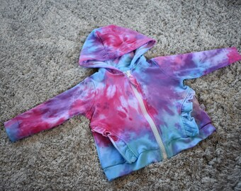 Tie dye kids zip jacket