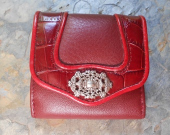 Vintage Brighton Red Leather Wallet