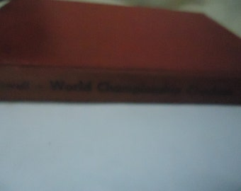 Vintage 1950 World Championship Checkers Hardback Book by William F. Ryan and Tommie Wiswell, Bell Publishing, collectable