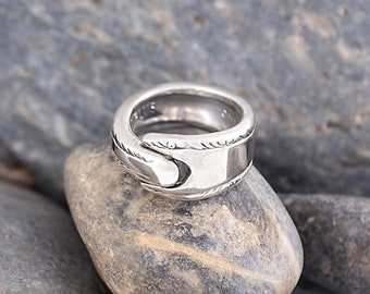 Silverware Handle Ring (Spoon Ring) Size 2 1/2 SR107