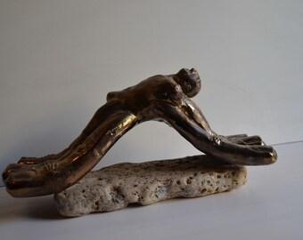 Golden fingers - One of a kind handmade ceramic sculpture