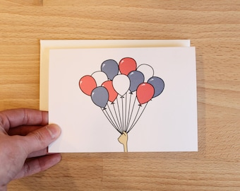 Balloon Greeting Card | Celebrate Card | Birthday Card | Baby Announcement