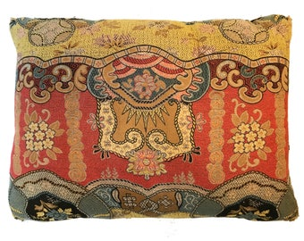 20th Century Silk Brocade Pillow