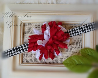 Alabama Crimson Tide Inspired Korker Bow Headband - Baby/Infant/Toddler/Girl/Adult Korker Headband - Photo Prop