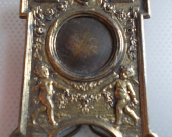 small old frames bronze or brass photo holder