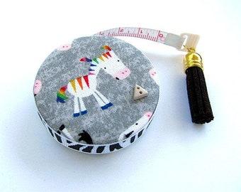 Versenkbare Maßband bunte Zebras Tasche Maßband