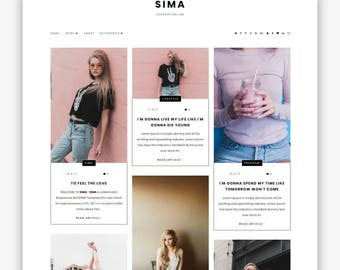 Sima | Responsive Minimalist Premade Blogger Template