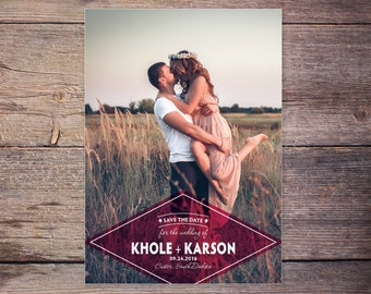 Save the Date Postcard, Save-the-Date Card Photo, Postcard, Destination Wedding, DIY Printable, Digital File - Karson+Khole