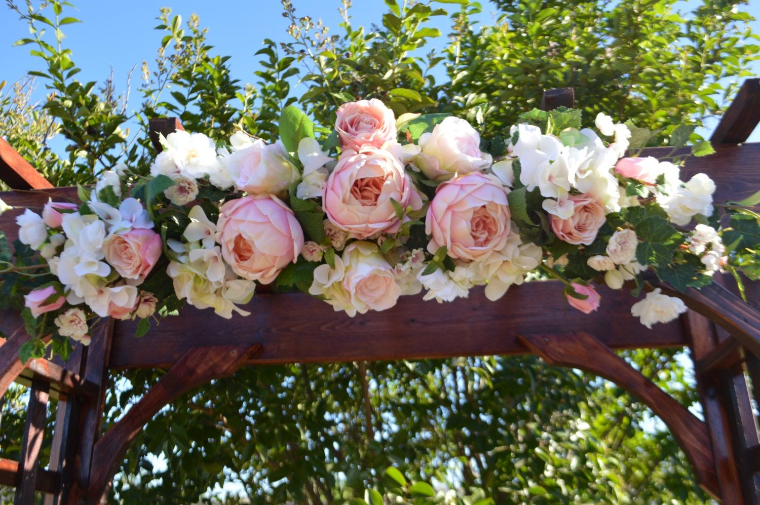 Wedding Arch Ceremony Arch Chuppah Arch Silk Flower Arch