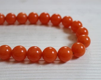 Vintage orange bakelite choker