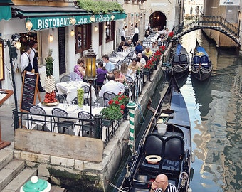 Venice Restaurant Overlooking Canal