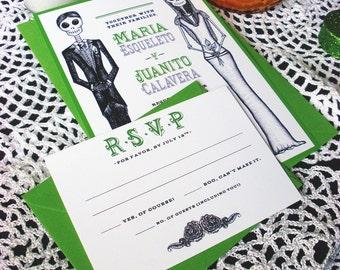 LOS CASADOS custom printed Wedding Invitations