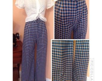 Vintage 1970s high waist bell bottoms pants 3/4 5/6
