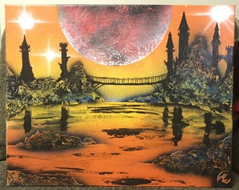 Castles - Spray Paint Art
