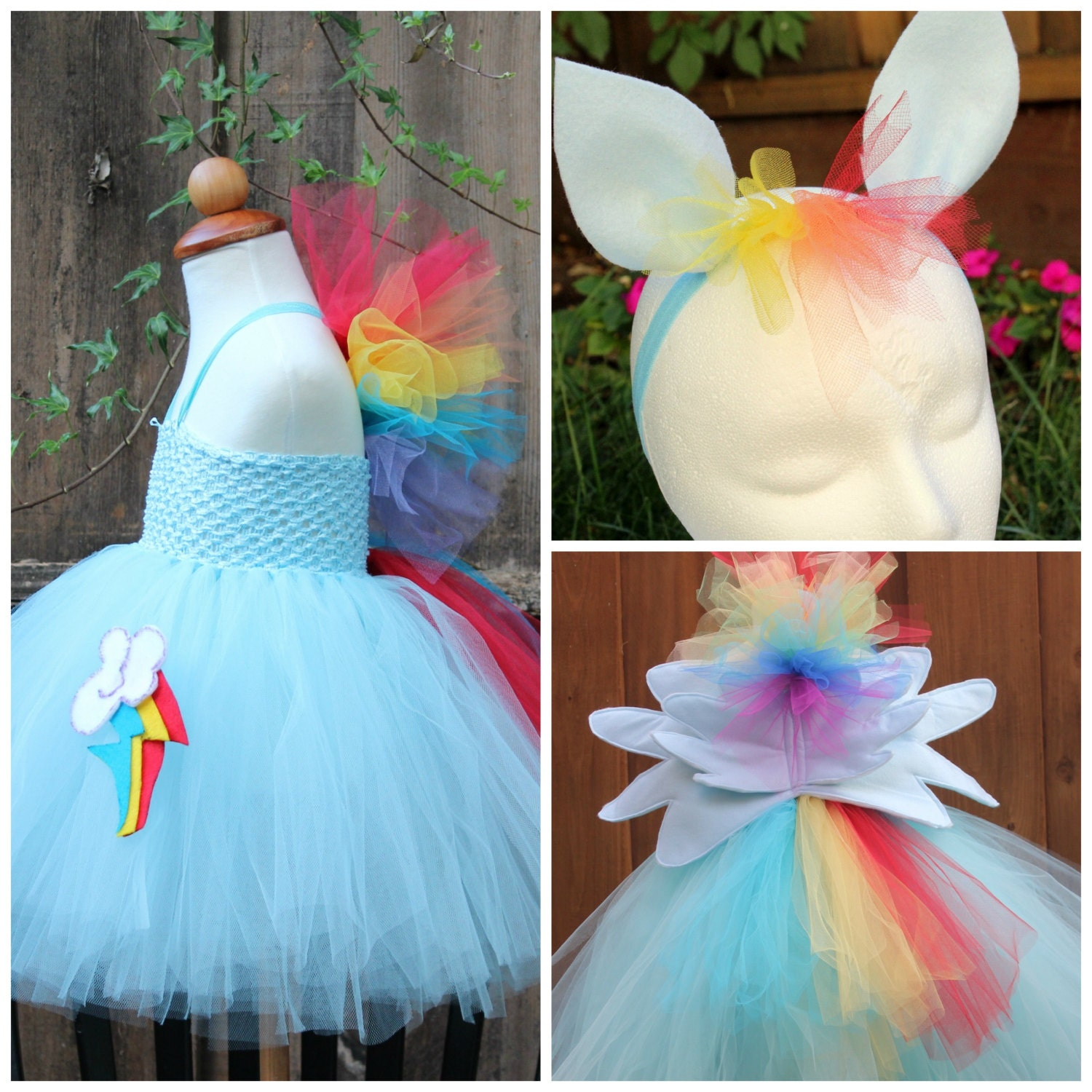 ?zoom & My little pony Rainbow Dash Costume Rainbow Dash 3 item