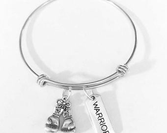 Gift For Her, Boxing Gloves Bangle Bracelet, Warrior Bracelet, Mother's Day Gift, Sports Gift, Sister Mother Best Friend