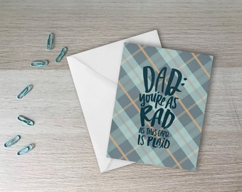 Dad You're Rad Plaid Father's Day Card