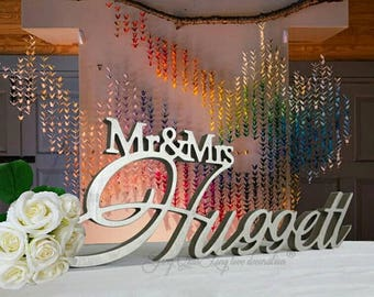 Custom Mr & Mrs Wedding Sign Personalised Name Mr and Mrs Mr and Mr Mrs and Mrs