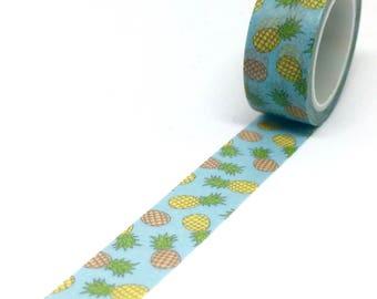 Tropical Pineapple Washi Tape - Fruit Party Masking Tape