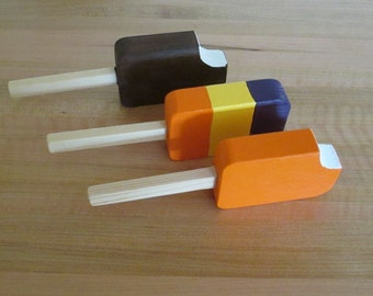 Wood Pretend Ice Cream Pops/child's gift