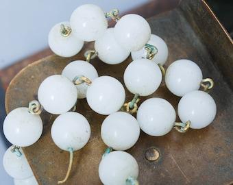 Set of 50 Vintage glass beads chandelier embellishment