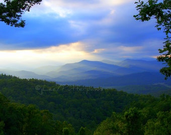 Blue Ridge Mountains 8 x 10 Photograph matted to 11x14 Clearance SALE