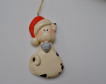 Personalized  Cat and Mouse Christmas Ornament