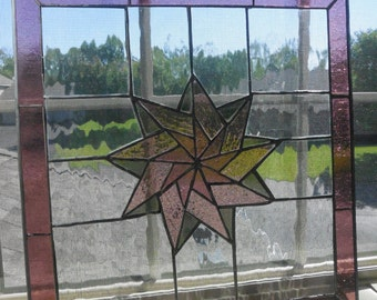 Stained Glass Pinwheel in Mauve