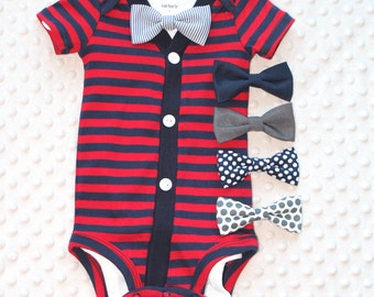Baby Boy Cardigan Bow Tie Set, Baby Outfit, Baby Boy Outfit, Baby Boy Clothes, Preppy Baby Boy Outfit
