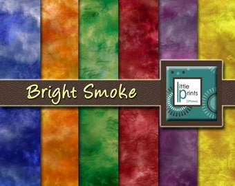 Digital Paper - Bright Smoke, Digital scrapbook paper, bright colour backgrounds, texture paper, printable paper