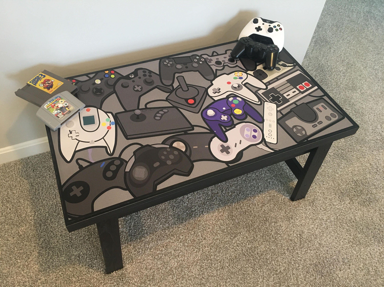 Controller Collage Video Game Coffee Table Sega Nintendo Xbox