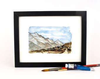 Mountain Village in Nepal- giclee print
