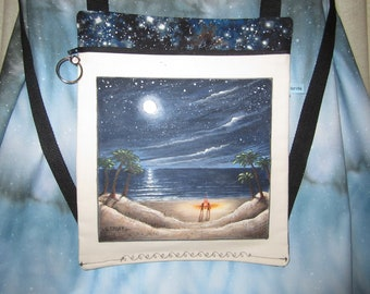 Night at the Beach/Hand Painted Backpack
