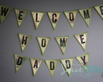 Homecoming Banner / Military Homecoming / Deployment Homecoming Banner / Welcome Home Banner / Welcome Home Dad Banner / Military Banner