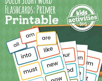 Dolch Sight Word Flashcards - Primer List - Preschool Printable Game