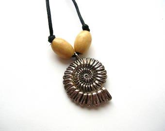 Ocean Necklace - Nautilus Necklace - Snail Shell Necklace