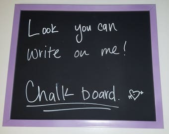 Chalkboard with chalk marker included! (Customizable)