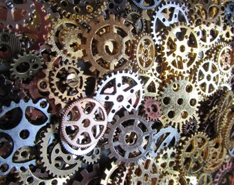 Steampunk Cogs mixed lot x 10 pieces Jewellery Charm LARP