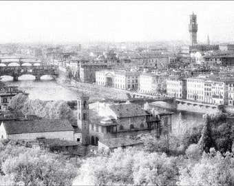 Florence From Above PHOTOGRAPH Print - Italy