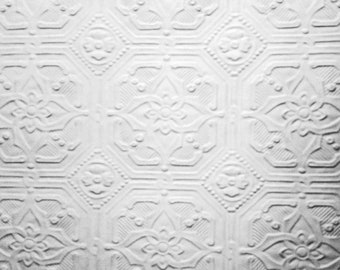 "Dollhouse Ceiling Paper - 3 1/2"" octagons in white or metal"