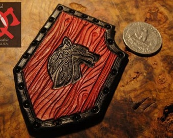 Fenrir Long Shield - Leather Morale Patch elcro backed