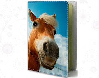 Horse Passport cover Leather Passport holder Blue cover for passport Travel cover Travel Gif Personal passport Accessories Personal passport
